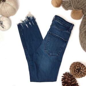 Zara | Premium Distressed Raw Hem Skinny Jeans, 2